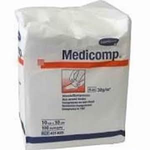 Medicomp non sterile 4 plis 10X10CM 100 *8252