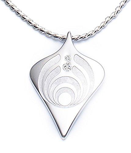 Rhombus Raute der Macht Magnetschmuck Set mit Kette hochwertig geschliffene Swarovski Kristalle handveredelte Unikate Energetix 4you 3028