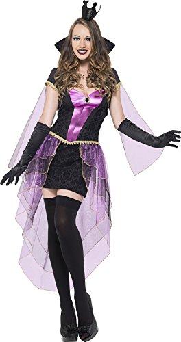 Smiffys 55026S - Spiegel Herrin Kostüm Kleid mit Zug und Jacke mit Kragen