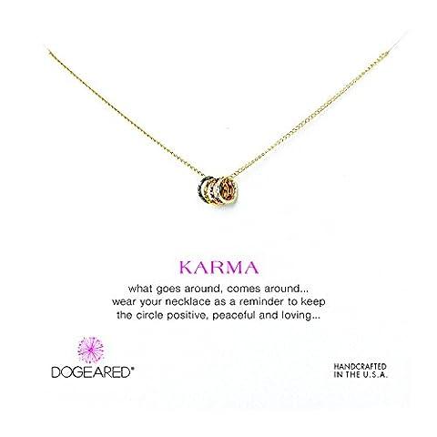Livré dans une boîte cadeau dogeared Karma Collier Or trempé