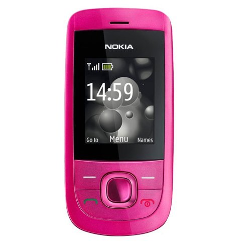 Nokia 2220 slide Handy (MP3, GPRS, Ovi Mail. Flugmodus) hot pink