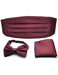 Conjunto de accesorios para esmoquin con fajín, pañuelo de bolsillo y pajarita