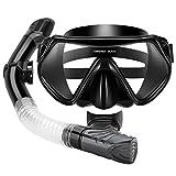 YAOJU Schnorchelset Kinder/Erwachsene Taucherbrille Schnorchelset Schnorchelmaske mit Anti-Fog...