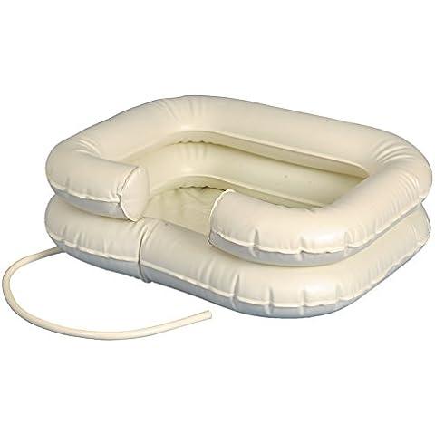 Testa Mobile lavabo lavaggio capelli Cuffia gonfiabile 1pezzo con tubo testa lavatrice Vasca qualità Tiga-Med