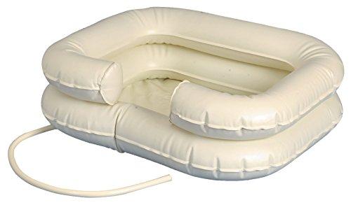 Tiga-Med Kopfwaschbecken mobil Haar Wasch Becken mobiles aufblasbar 1 Stück mit Schlauch Kopfwaschwanne Original Qualität