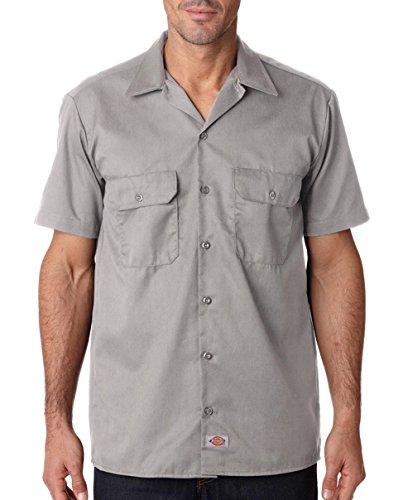 Preisvergleich Produktbild Dickies - Herren Kurzarmhemd Work - Silber 1574 arbeit Männer Freizeithemden Shirt DICKIES1574SV-M