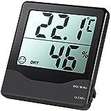 Amir Digital Thermometer Hygrometer Home Comfort Monitor Temperatur und Luftfeuchtigkeit Meter mit großen LCD-Bildschirm, min/max Records, genaue Lesungen, ° C/° F Schalter, für Autos, Zuhause, Büro, etc..