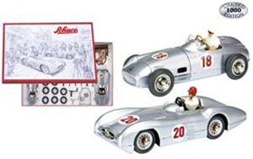450604300 Schuco Studio Bausatz W196 Monoposto und Stromlinie mit Figuren Die Welt der Silberpfeile Großer Preis von Europa 1954