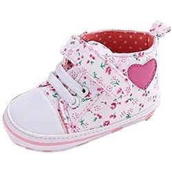 Zapatos Bebé,Xinantime Zapato de Lona para Chica Rosa Linda (17, Blanco)