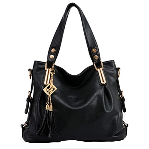 koson-man-womens-patent-leather-boutique-matel-tassels-tote-bags-top-handle-handbagblack