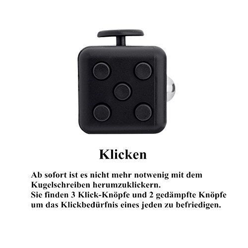 Younger Black Fidget Cube Relieves Stress for Children and Adults - 4
