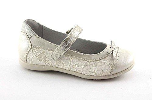 NERO GIARDINI JUNIOR 28410 ivory scarpe bambina ballerina cinturino pizzo 26