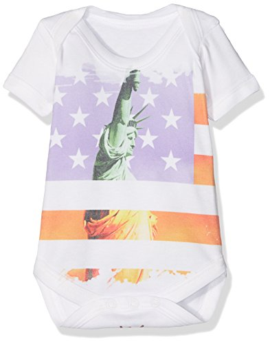 TWISTED ENVY Baby Mädchen (0-24 Monate) Body Gr. XS , weiß - Big Apple Baby T-shirt