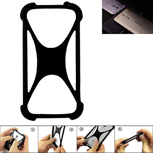 K-S-Trade Handyhülle Ulefone Gemini Silikon Schutz Hülle Cover Case Bumper Silikoncase TPU Softcase Schutzhülle Smartphone Stoßschutz, schwarz (1x)