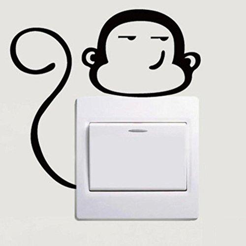 Preisvergleich Produktbild Lustige Äffchen Schalter WC Kühlschrank Aufkleber Wandsticker Aufkleber Hauptdekoration Aufkleber Wand (5)