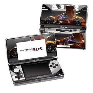 Nintendo 3DS Skin Schutzfolie 4-teilig für alle Seiten Design Aufkleber Sticker Cover Auto – Z33 Light Sportwagen