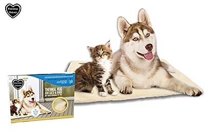 Valentina Valentti Self Calefacción térmica para mascotas, alfombra o cama para gatos y perros grandes, tamaño grande