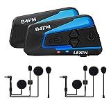 LEXIN Pro B4FM Auriculares Intercomunicador Moto Bluetooth, intercomunicador Casco Moto con FM,...