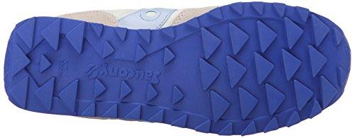 Baskets Saucony Low Pro en suède et tissu gris et indigo Off White/Light