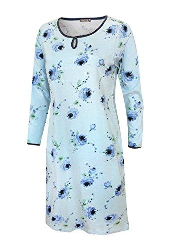 Damen Nachthemd Damen Pyjama Damen Sleepshirt Damen Schlafshirt aus 100% Baumwolle Gr XXL/52-54 (Damen-sleepshirts Baumwolle Aus)