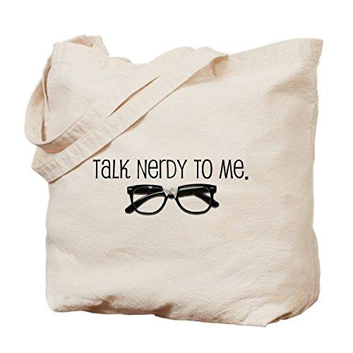 CafePress Talk Nerdy To Me Tragetasche, canvas, khaki, S