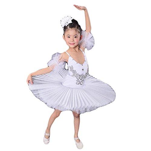 (Kleinkind / Kind) Ballett-Kleid / Sling Ballettrock / Schwanensee Kostüme-Weiß