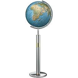 Globo Terráqueo Columbus Duo: 40cm Diámetro. Bola de vidrio soplado, tradicional handkaschiertes .Pie de acero inoxidable.