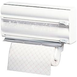 Rayen 2200 - Portarrollos triple de cocina, color blanco