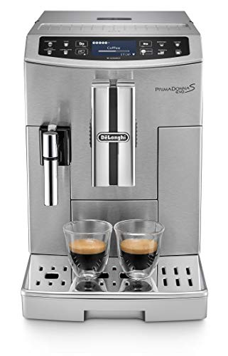 De'Longhi Primadonna S Evo ECAM 510.55.M Kaffeevollautomat (mit integriertem Milchsystem, Touchscreen und App-Steuerung, automatische Reinigung, Edelstahl) silber