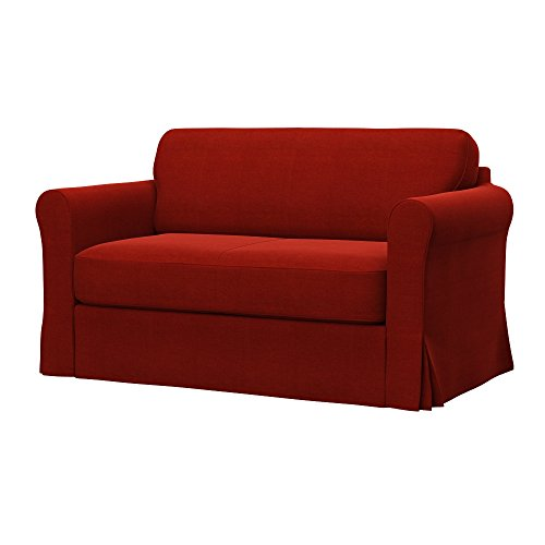 Soferia - IKEA HAGALUND Funda para sofá Cama, Elegance Dark Orange