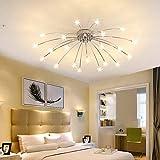 Lámpara de techo para salón comedor moderna LED regulable acrílico pantalla de lámpara de techo...