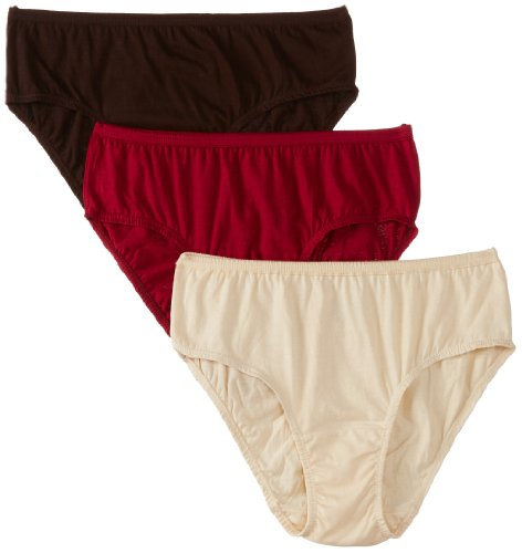 Hanes Women's Cotton Hipster Panty (Pack of 3)(Colors may vary)