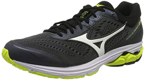 Mizuno WAVE RIDER 22 Scarpe da corsa Uomo, Multicolore (Dshadow/White/Syellow), 41 EU (7.5 UK)