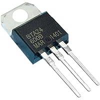 Cikuso 5 Pcs T0-220AC Paquete SCR Estandar Triacs 600V 25A BTA24-600B