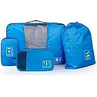 BAGSMART Accessori da Viaggio Organizer per Valigie Viaggio dei Bagagli Organizzatore 4 Set (Porta Cavi - Sacchetti per calzature - Beauty Case - Cubi di Imballaggio)