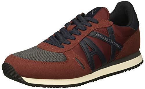 Armani Exchange Herren Schuhe Sneaker Micro Suede XUX017 XV028 42 Bordeaux