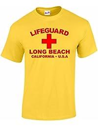 Bang Tidy Clothing Men's Lifeguard Long Beach California USA Surfer Beach Fancy Dress T Shirt