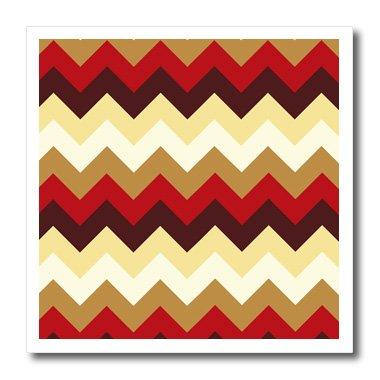 3dRose HT 165750_ 3Colorful Chevron Muster in Leuchtenden Farben erstrahlen. Native American Look Iron auf Wärmeübertragung, 10von 25,4cm für weiß Material -