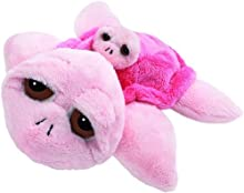 Suki Baby L'il Peepers Coral Turtle Mummy and Baby Soft Boa Plush Toy (Pink)