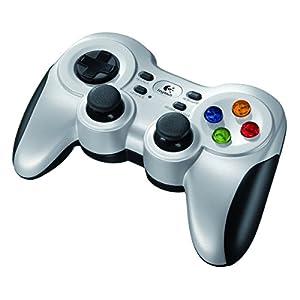 Logitech F710 Gamepad PC Schwarz, Silber – Spiele-Controller (Gamepad, PC, D-pad, Auswählen, Start, Vibration Ein / Aus, Kabellos, RF, Nano)