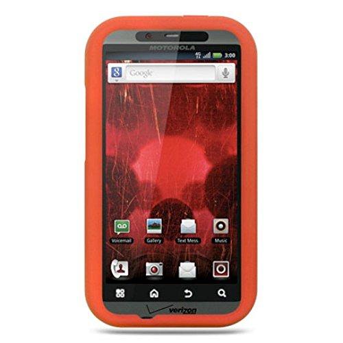 Schutzhülle für Motorola Droid Bionic XT875 (Gummi, Silikon, weich) Orange