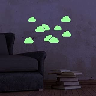ABCUV Glow in the Dark Clouds Set Self-Adhesive Stickers