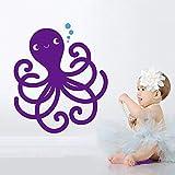zhuziji Happy Octopus Nordic Wandaufkleber Wohnzimmer Schlafzimmer Dekorative Kinderzimmer Dekor...