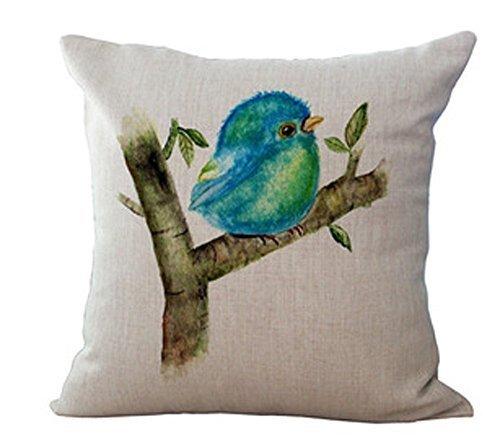 Beautyrest Baumwolle Kissen (Ölgemälde Vogel Kolibri Umarmung Kissen Kissen Baumwolle Mischung Leinen Kissenbezug für sofa8 18 * 18 Zoll)
