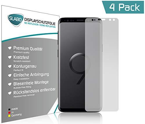 Slabo 4 x Displayschutzfolie für Samsung Galaxy S9 Displayfolie Schutzfolie Folie Zubehör No Reflexion MATT