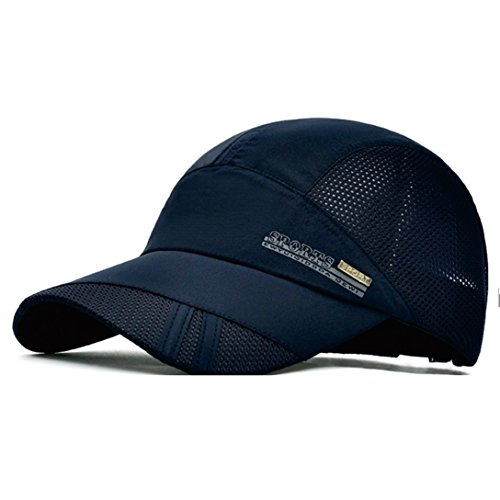 GADIEMENSS Quick Drying Breathable Running Outdoor Hat Cap Only 2 Ounces (Navy) (Mlb-mesh-visor)