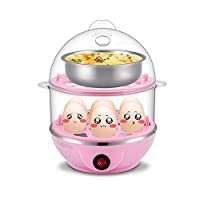 Shopo's 2 Layer Egg Boiler Cooker and Steamer With Steel Bowl, Assorted Colour