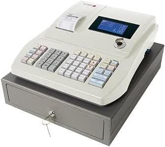 Olympia 949110001 Caisse enregistreuse CM911 gris clair avec compartiments à 3 billets et affichage LED