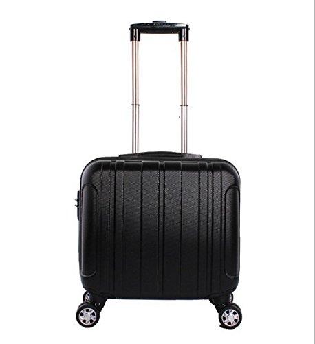Xiuxiandianju 17 pollici Business Computer caso imbarco bagagli uomini e di donne ruote ABS Password sacchetti piccoli casi di corsa (20L) , silver Black