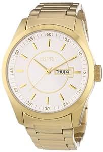 Esprit Herren-Armbanduhr XL Circolo Gold Analog Quarz Edelstahl ES104081006